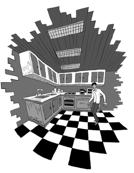 The Kitchen is Collapsing! by SugaryAshes