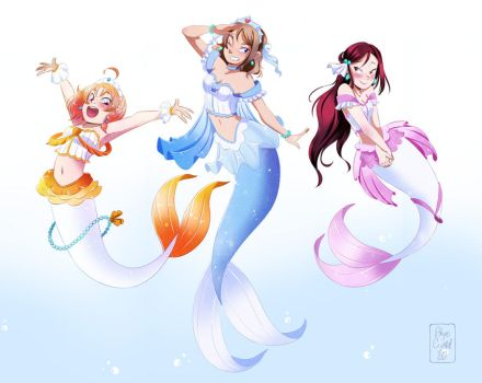 .: Mermay 2017 - Aqours serie - 2nd years trio :. by xSkyeCrystalx