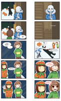 HAPPY UNDERTALE HALLOWEEN by DeaChaos