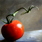The Lone Tomato - Acrylic by stevegoad