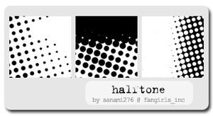 Halftone brushes, PS6 by Sanami276