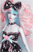 Cotton candy curls by Sarqq