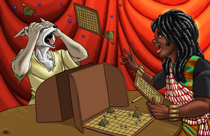 Catapult Board Game by ProdigyDuck