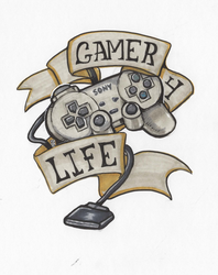 Gamer4life dualshock by The-Z