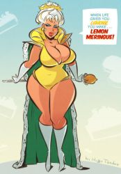 Lemon Meringue - Cartoon PinUp Sketch Commission by HugoTendaz