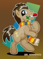 Dr. Whooves with Scarf by MaryBellamy