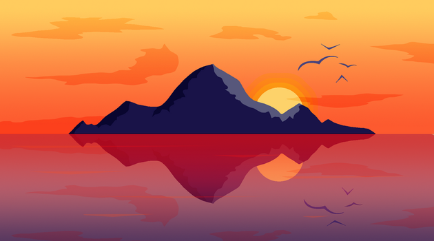 Flat Landscape Practice #2 - The Island by amplifang765