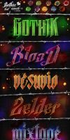Gothic Text Effects v2 - Photoshop Styles by KoolGfx