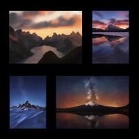 Landscape Thumbnail Studies 2 Day #128 by AngelGanev