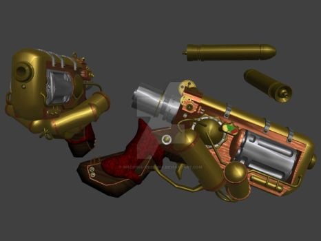 Steam Pistol by Machina-Obscura