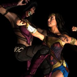 Mileena vs Wonder Woman (another angle) by MsLiang