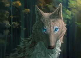 These glowing eyes by WolfsECHO