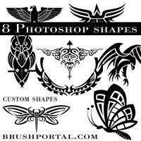 Birds and insects custom shapes by Brushportal