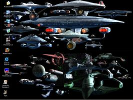 TREK Ships Desktop Screenshot by Carthoris