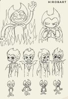 Bendy human (Sketches) by HirobArt