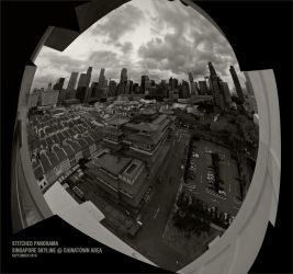 Singapore Stitched Skyline02 by clarenceangelo