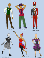 DHS Talent Show Contest Outfits by Neko-Meep
