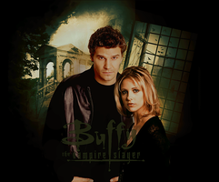 Poster: Buffy and Angel by JuliaAngels