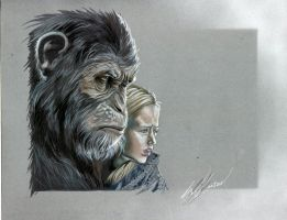 War for the Planet of the Apes by Rikwilkinsonartist