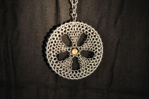 Chainmail Flower Ornament by Loki-Craft
