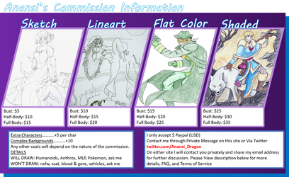 OPEN FOR COMMISIONS (3 Slots Open) by AnansiDragon
