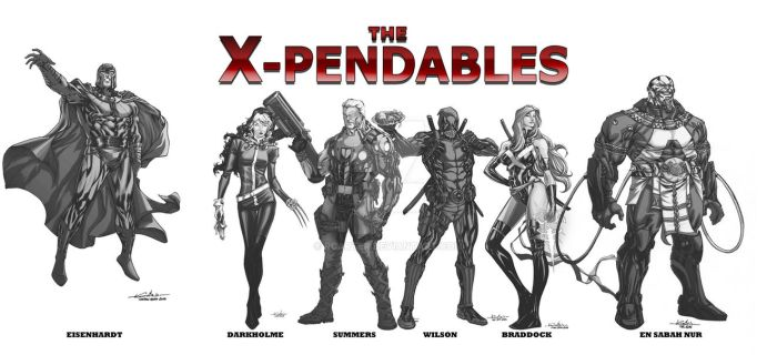 WIP the X-Pendables blkwht by RCarter