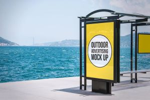 Free Outdoor Advertising Mockup Demo by symufa