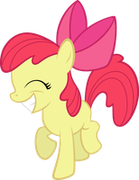 Grinning Applebloom by qazwsx302