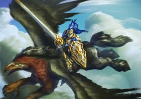 Hippogriff Knight by Drawslave