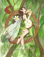 Celtic Apple Tree Faerie by mickiemueller