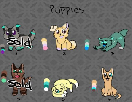 Puppies adoptables (20 points) OPEN by Aki-hay-Adopts