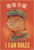 CHAIRMAN MEAOW IS RULEZ by rhobdesigns