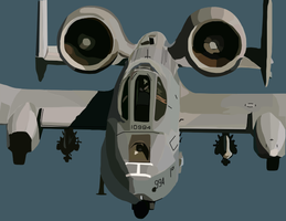 a-10 tankbuster by Simarilius