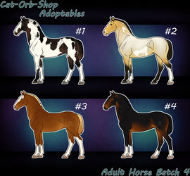 Horse Adoptable: Adult Batch - 4 by Cat-Orb-Shop