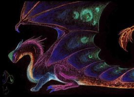 Inverted Colored Dragon by BrokenRapture781