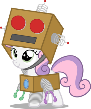 Sweetie-Bot (Nightmare Night 2014 Costume) by Zacatron94