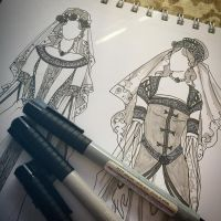 Lady of June Fashions WIP by AngelaSasser