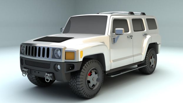White H3 Hummer by Wintersun-nw