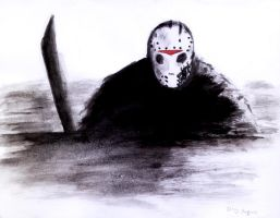 Friday the 13th part 7 paint and brush Jason by DougSQ
