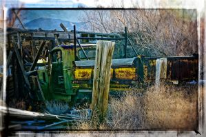 Old truck in the desert. by jennystokes