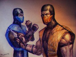 Sub zero and Scorpion MKII by PitBOTTOM