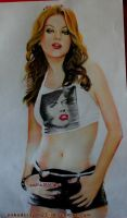 mila kunis in color pencil drawing by nakedcrayon23