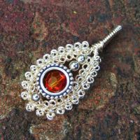 Gypsy Coiled Wire Wrap Pendant by Create-A-Pendant