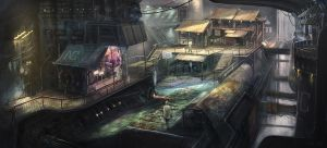 Nocturne - Refinery Station by Skyrion