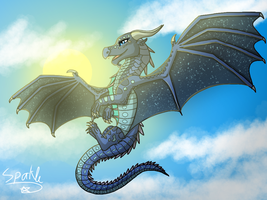 Blue Crescent - Request by Hukya