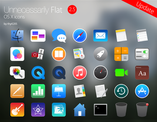 Unnecessarily Flat v2.5 - icon set by thy4205