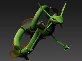 Pokemon 394 Rayquaza 3D Model by WilbertPierce
