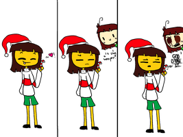 Christmas is not a time of violence, chara by XxZezzraxX