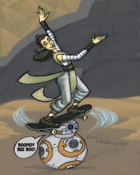 Rey Natas Spin on BB8 by Stnk13