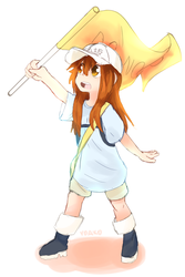 Platelet-chan by TheBorealYoako
